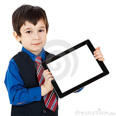 Free Child With Digital Tablet Stock Image - 23454201
