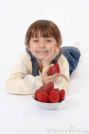 Free Child With Strawberry Royalty Free Stock Photos - 2134238