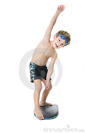 Free Child With Swimming Board Over White Royalty Free Stock Photos - 17544358