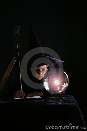 Child in wizard costume