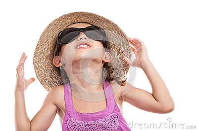Child worried sun ultraviolet radiation