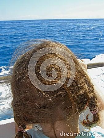 Child on yacht