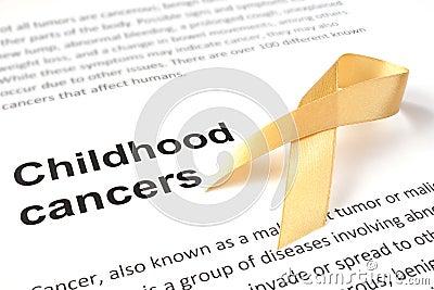 Childhood cancer Stock Photo