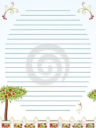 Childhood correspondence sheet