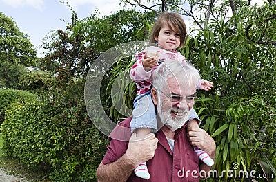Childhood - Granddad and Grandchild Relationship