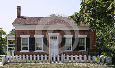 The Childhood Home of Thomas Edison Editorial Stock Photo