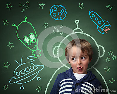 Childhood Imagination And Dreams Stock Photography - Image ...