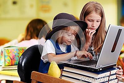 Childhood, laptop