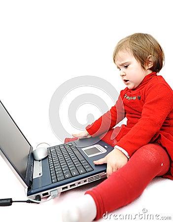 Childhood, laptop, learning
