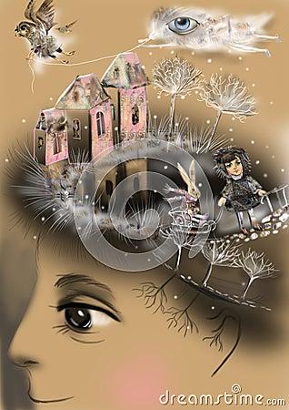 Free Childhood Memories, Describing Inner World, Royalty Free Stock Photos - 37849678