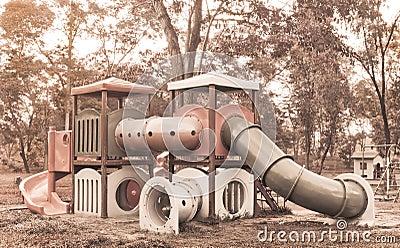 Childhood nostalgia playground equipment