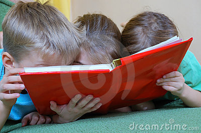 childhood reading a book