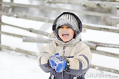 Childhood on snow