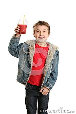 Childi with fresh fruit juice