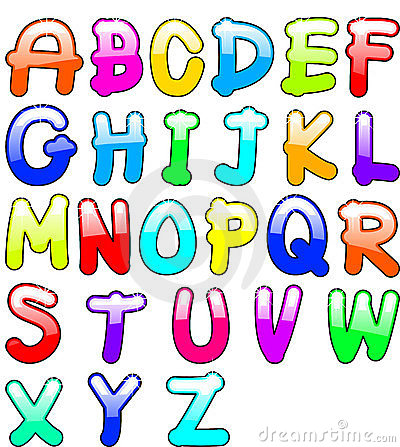 Childish alphabet