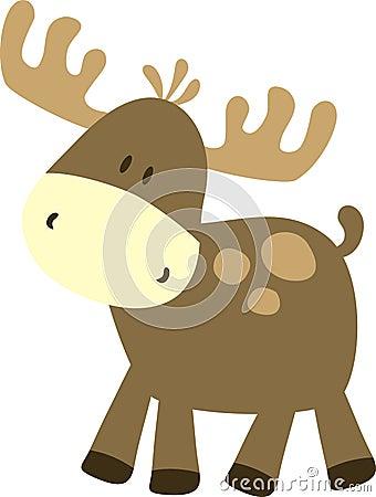 Free Childish Moose Stock Photo - 6186790