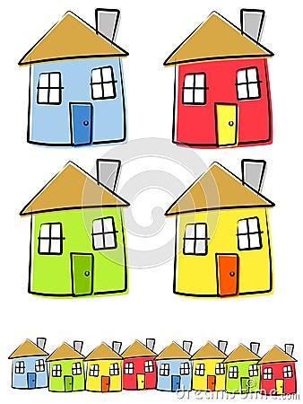 Childlike Drawings of Houses