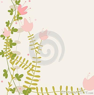Childlike floral greeting