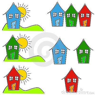 Childlike House Home Clip Art