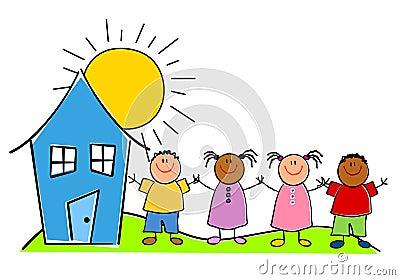 Childlike Kids With a House