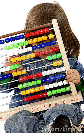 Children with abacus