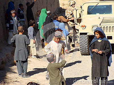 Children in Afghanistan Editorial Photography