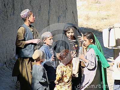 Children in Afghanistan Editorial Stock Photo