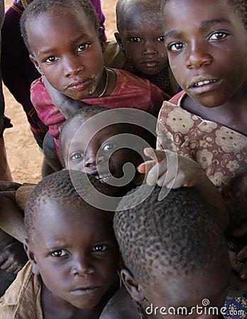 Children in Africa Editorial Image