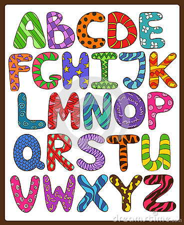 Set Of Colorful Alphabet Capital Letters A To Z Stock Vector ...