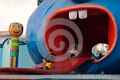Children amusement Editorial Photo