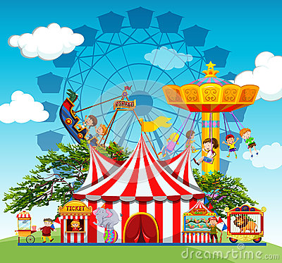 Free Children And People At The Amusement Park Royalty Free Stock Images - 63198449