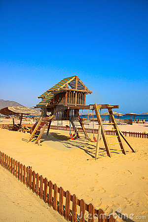 Free Children Area On The Beautiful Beach Royalty Free Stock Images - 18377879