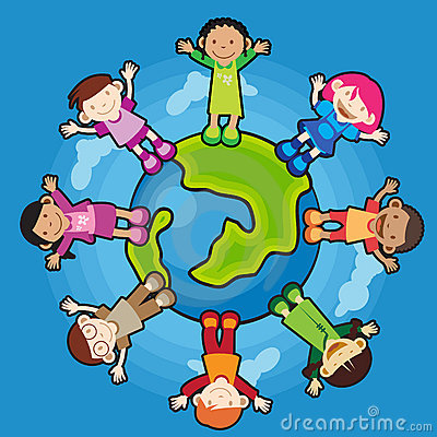 Free Children Around The Globe Royalty Free Stock Photography - 5625837