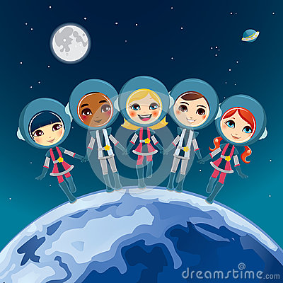 Children Astronaut Dream Royalty Free Stock Photo - Image: 25292805