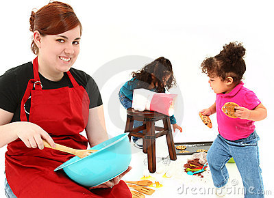Children Baking Cookies