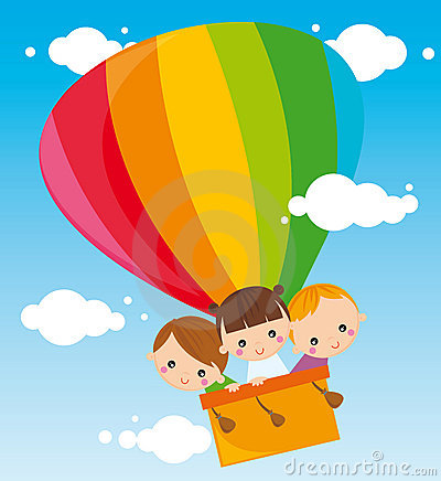 Children with balloon