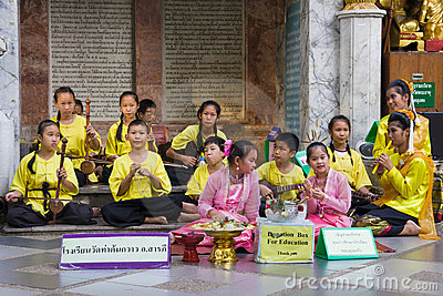 Children Band Raise Funds for Education Editorial Stock Photo