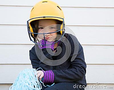 Children baseball cheerleading pom poms girl sad relaxed