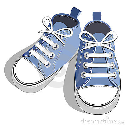 Free Children Blue Sneaker Royalty Free Stock Photos - 18863368