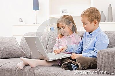 Children browsing internet
