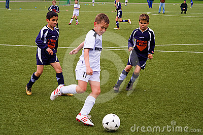 Children of BSC SChwalbach playing soccer Editorial Photography