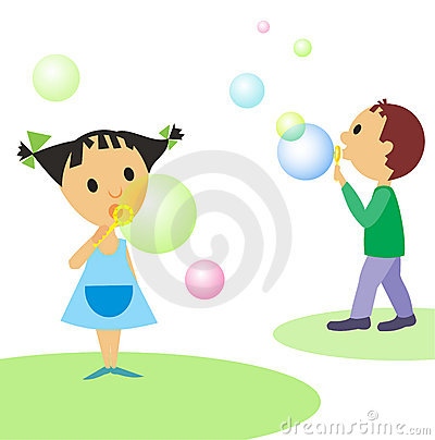 Children-and-bubbles