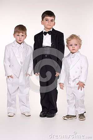 Children in  business suits
