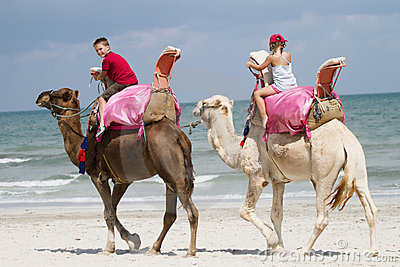 Children on camels