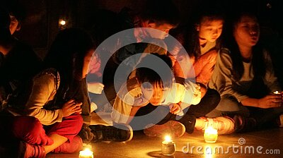 Children In Candlelight  Free Public Domain Cc0 Image