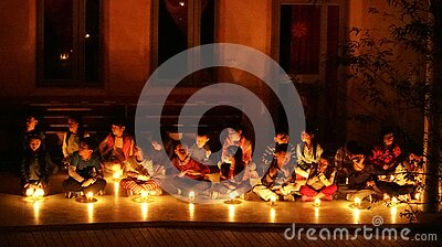 Children In Candlelight Ceremony Free Public Domain Cc0 Image