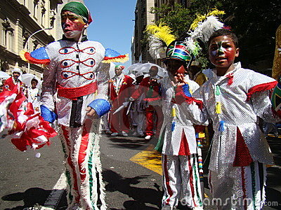 Children at Cape Town Minstrel Carnival Editorial Stock Image