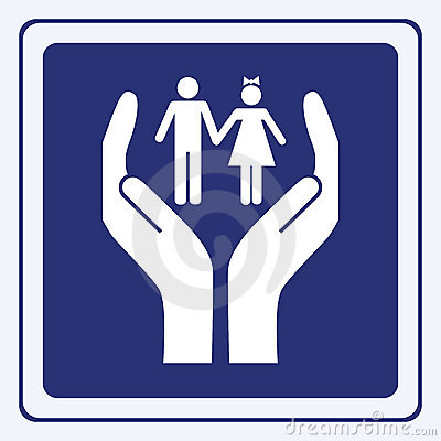 Free Children Care Sign Stock Photos - 12845863