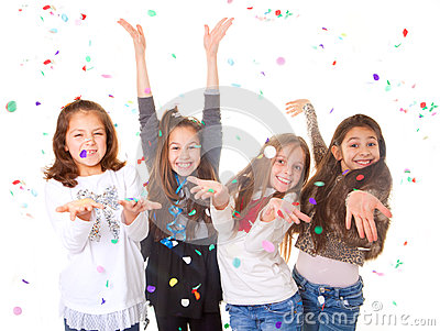 Children celebrating party