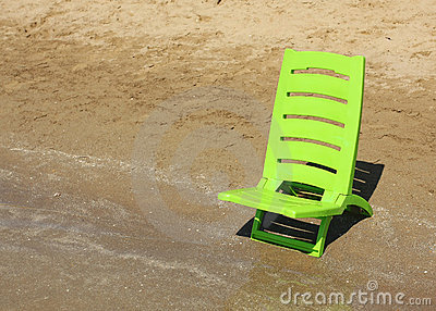 Children chair on the beach